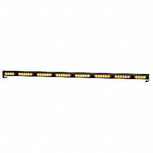 Amber, LED Directional Lightstick, 12/24VDC, Permanent Mounting, Length 46-5/8""