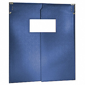 Swinging Door,7 x 3 ft,Royal Blue,PVC