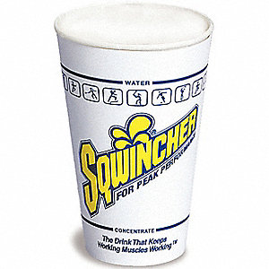12 oz. Disposable Cup, Waxed Paper, White, PK 100