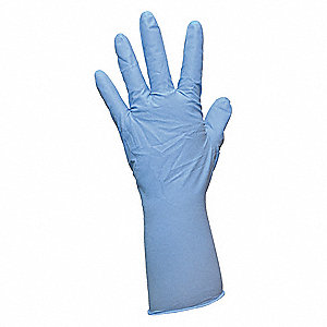 "Blues Disposable Gloves, Nitrile, Powdered, XL, 4 mil Palm Thickness, 10"" Length"