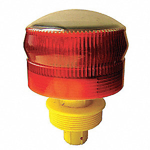 "Solar Barricade Light,4"",1.2VDC"
