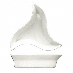 Star Appetizer Dish,6 Inch,White,PK36