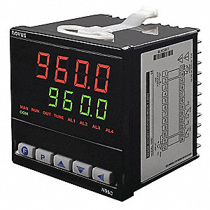 Temperature Controller, 1/4 DIN Size, 100 to 240VAC Input Voltage, Switch Function: SPDT