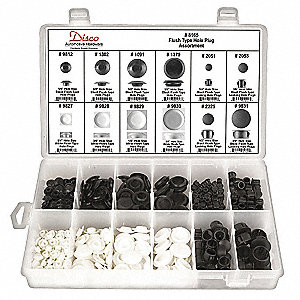 Flush Type Hole Plug Assortment,349 Pc