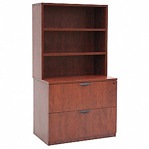Hutch w/ Lateral File,Legacy,Cherry