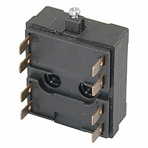 2NO/2NC 12 AWG Contact Block, AC Contact Rating: 10A @ 600VAC