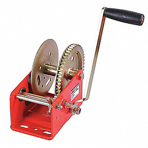 Ratcheting Winch,Spur,No Brake,1800 lb.