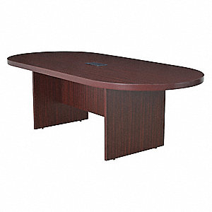 Conference Table,43 In x 8 ft,Mahogany