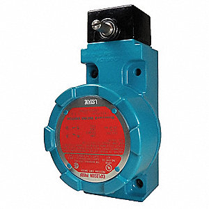 Explosion Proof Limit Switch, 600VAC/250VDC Voltage Rating, 10 Amps, Side Actuator Location