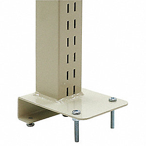 Upright Post,2Wx10Dx48H,Blue,PK3
