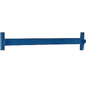 Bin Rail,72 W x 1-1/2 D x 4 in. H,Blue