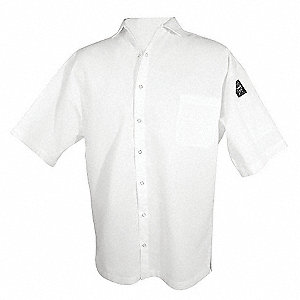 Cook Shirt,Unisex,White,Short Sleeve,2X