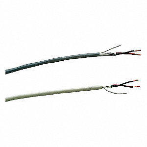 Shielded Multi-Conductor, 1000 ft. Length, Gray Jacket Color, Number of Conductors: 4