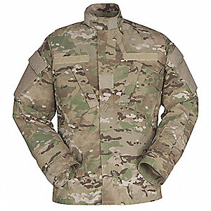 Military Coat, Size L, Color: Multicam