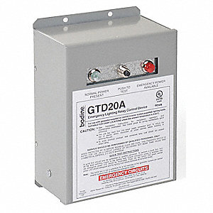 Emergency Lighting Relay Control, 20 Amp Max Output Current