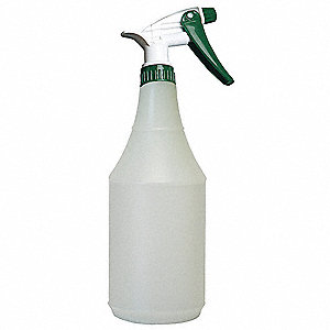 Green/Clear Polyethylene Trigger Spray Bottle, 32 oz., 3 PK
