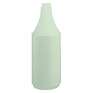 Green/Clear Polyethylene Bottle, 32 oz., 3 PK