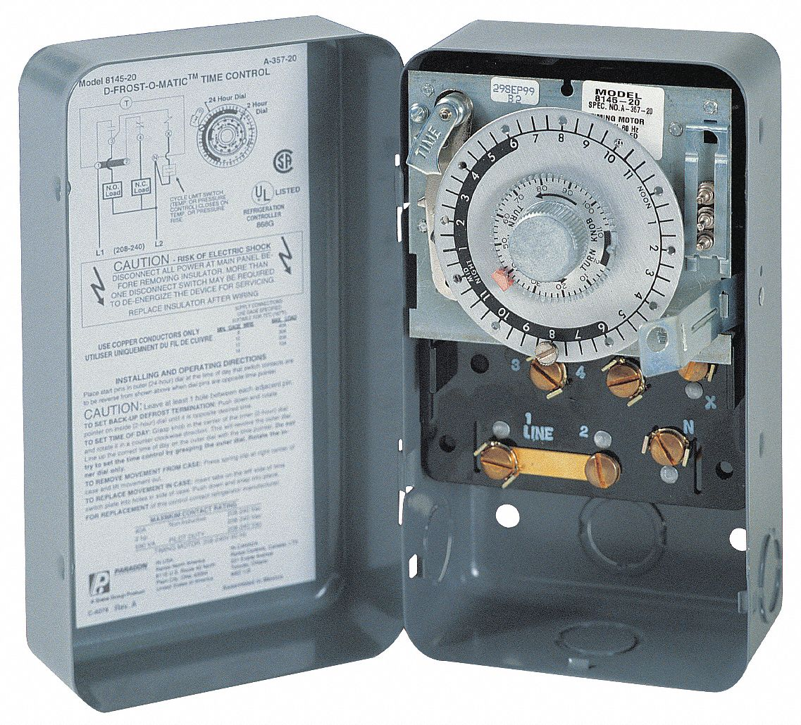Paragon Defrost Timer Control  208  240vac Voltage  Defrost