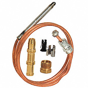 Repl Thermocouple,Snap Fit,36 In