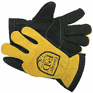 Firefighters Gloves,M,Goathide Lthr,PR