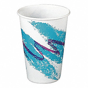 10 oz. Disposable Cold Cup, Waxed Paper, White, PK 2000