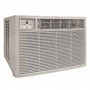 Window Air Con,230/208V,Cool Heat,EER9.4