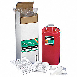 Sharps Mailback System,3 Gal.,Screw Lid