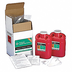 Sharps Mailback System,2 Gal.,Screw Lid