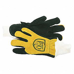 Firefighters Gloves,S,Cowhide Lthr,PR