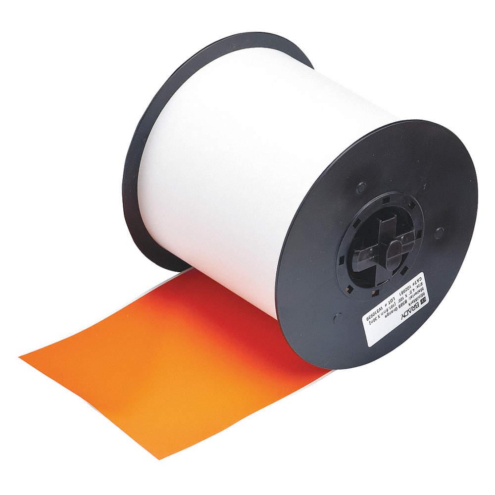 Brady 113200 Label Tape Cartridge, Orange, 4 In. W 113200