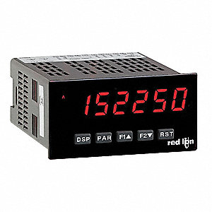 Electronic Counter Rate Meter, Number of Digits: 6, Red Sunlight Readable or Standard Green LED Disp