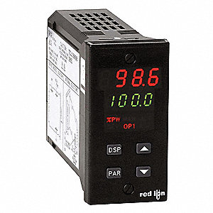 Temperature Controller, 1/8 DIN Size, 115/230VAC Input Voltage, Switch Function: SPDT, Logic, Triac