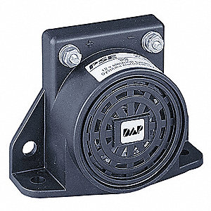 Back Up Alarm,87dB,Black,3-1/2 In. H
