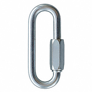 Carabiner,Steel,3 In. L,Screw Lock