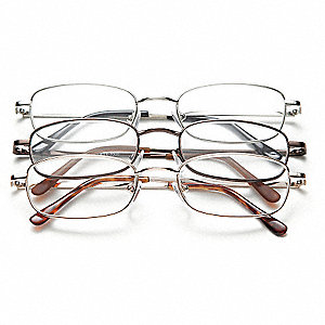 Reading Glasses,+1.5,Clear,Acrylic,PK3