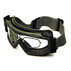 Goggles with Precription Inserts, Smoke Lens Color