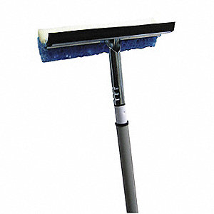 "10"" Rubber, Straight Window Washer and Squeegee, 1 EA"