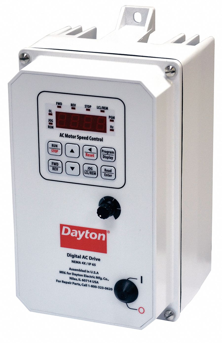 Dayton variable frequency drive 1 hp 208 240v 13e651 for Small variable speed ac electric motors