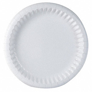 Paper Plates,8-5/8,Coated,White,PK500
