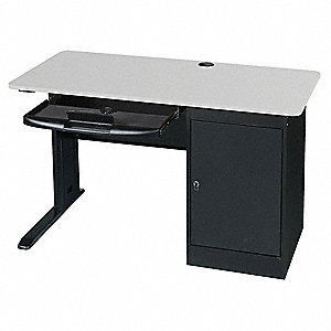 Computer Workstation,48x29x24 In,Gray