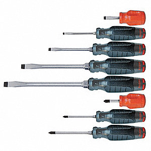 Assorted Screwdriver Set, Multicomponent, Number of Pieces: 8