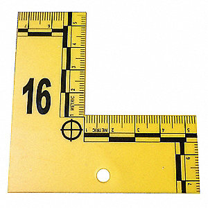 L to Shaped Flat ID Markers,1 to 20,Yel