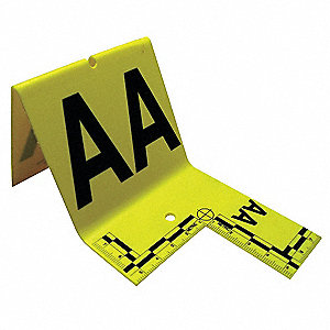 Cut-out ID Tents,A to Z,Yellow