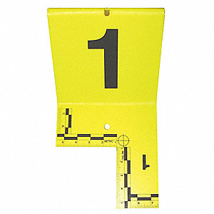 Cut-out ID Tents,1 to 20,Yellow