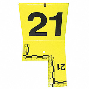Cut-out ID Tents,21 to 40,Yellow