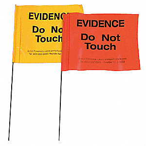 Evidence Flags,Yellow,PK100