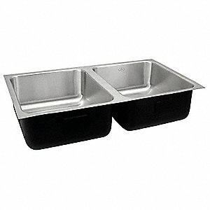 Undermount Sink,32 In. L,5-1/2 In. H