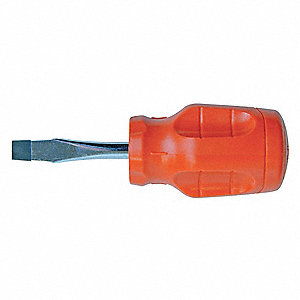 Screwdriver,Slotted,3/8x8 In,Square