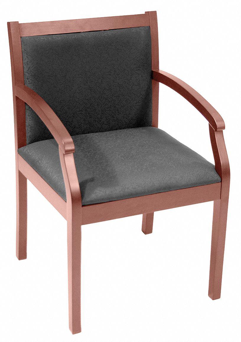 Regency Regent Guest Chair Fabric Black Cherry 13j299