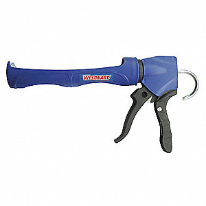 Caulk Gun, Smooth Rod, Blue/Black, 10 oz
